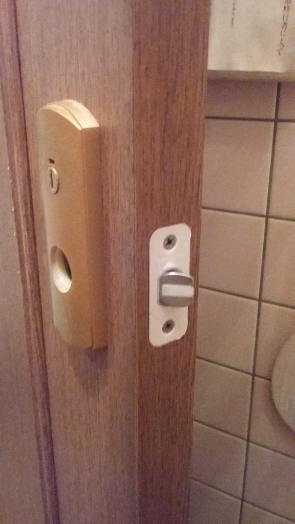 ナガサワの表示錠が付いたトイレの鍵