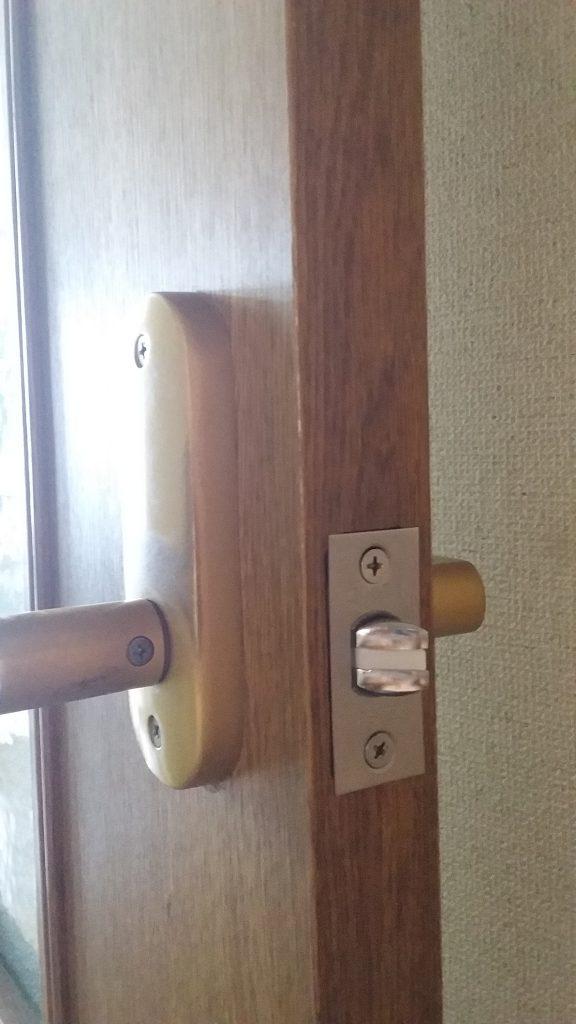 ラッチ交換した室内扉
