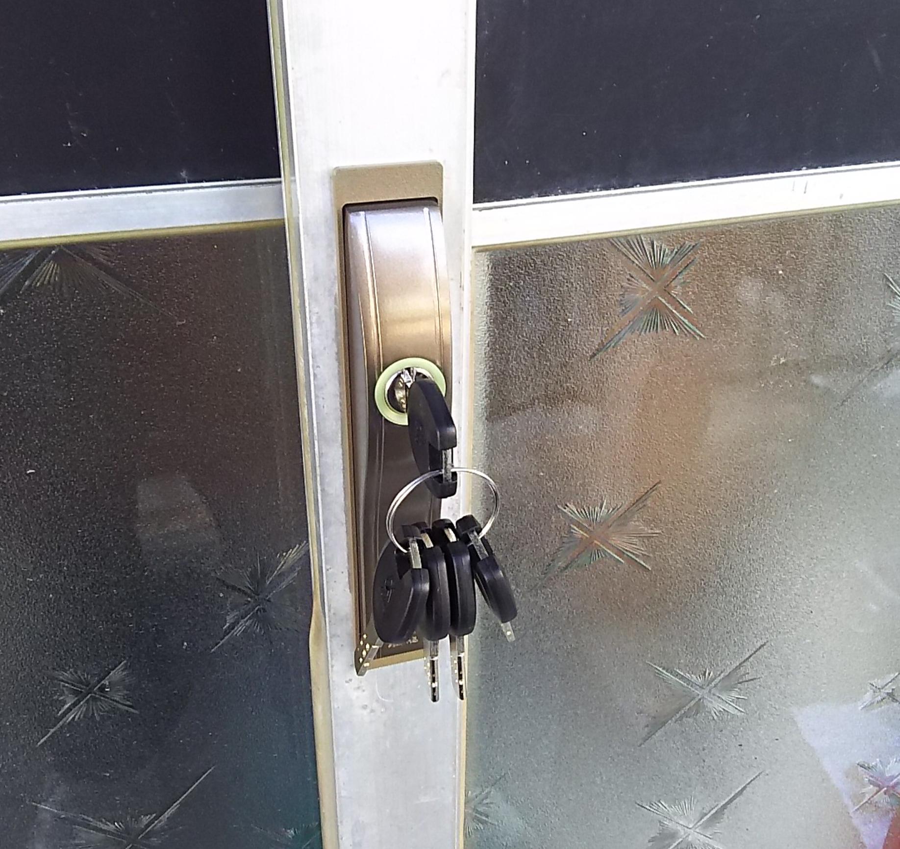 ALPHAのF4056に付け替えた玄関引き戸