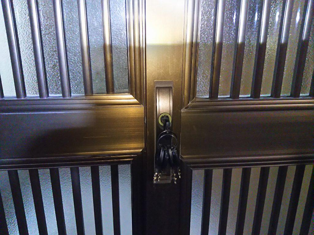 鍵を紛失した玄関の引き戸